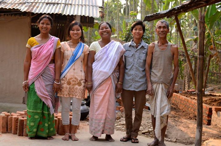 Rabha family - brick wall